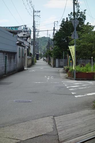 播磨国分寺前の山陽道痕跡