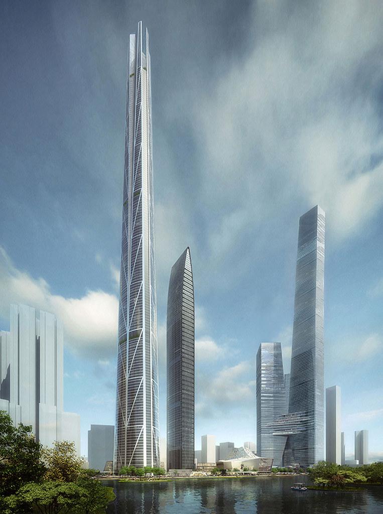 Высочайшая башня Китая H700 Shenzhen Tower