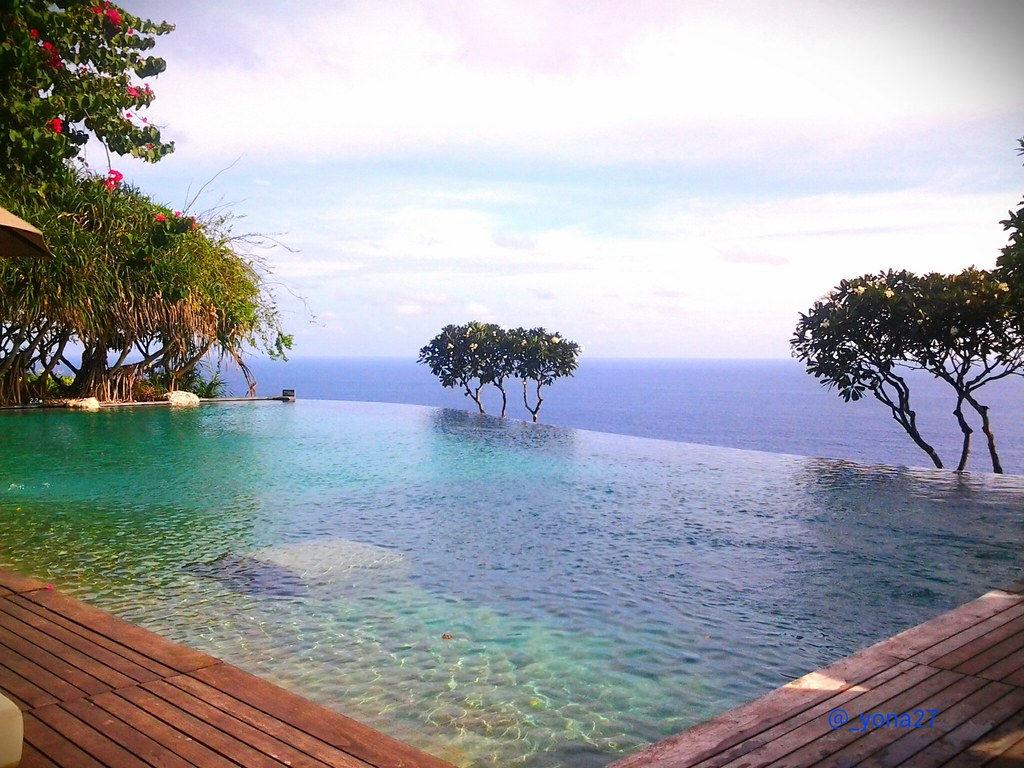 Swimming Pool with Ocean View at Bulgari Resort Bali, Indonesia