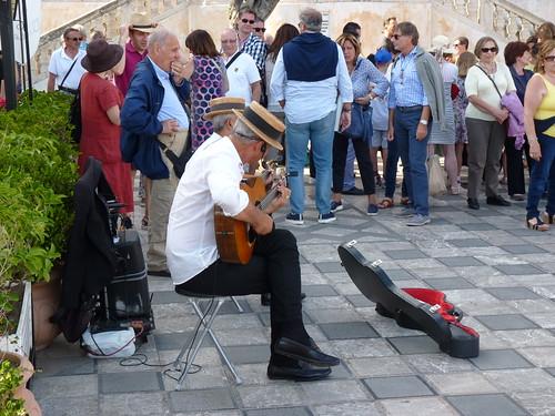 Taormina stimmungsvolle Straßenmusik
