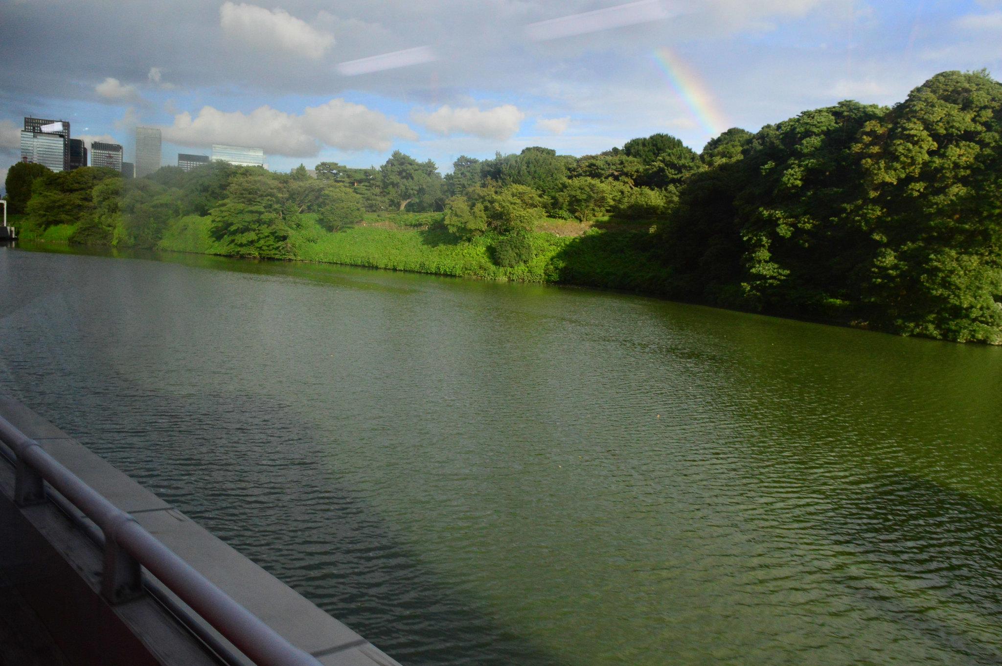 Rainbow spotted on the way to Shinjuku