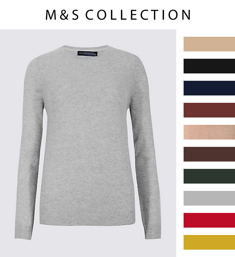 Capsule Wardrobe Pieces That Suit All Body Shapes & Sizes | 4 Cashmere Sweaters to Shop | Not Dressed As Lamb, over 40 style