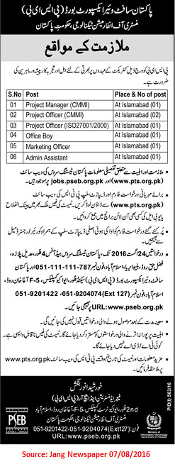 Pakistan Software Export Board Jobs