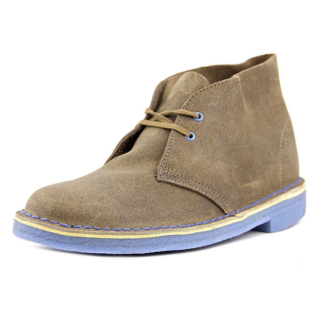 Details about Clarks Originals Women's Desert Taupe Distressed Lace Up Boot