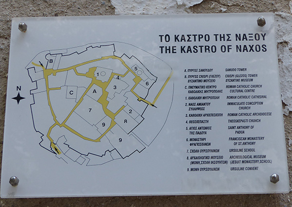 le kastro de Naxos, plan