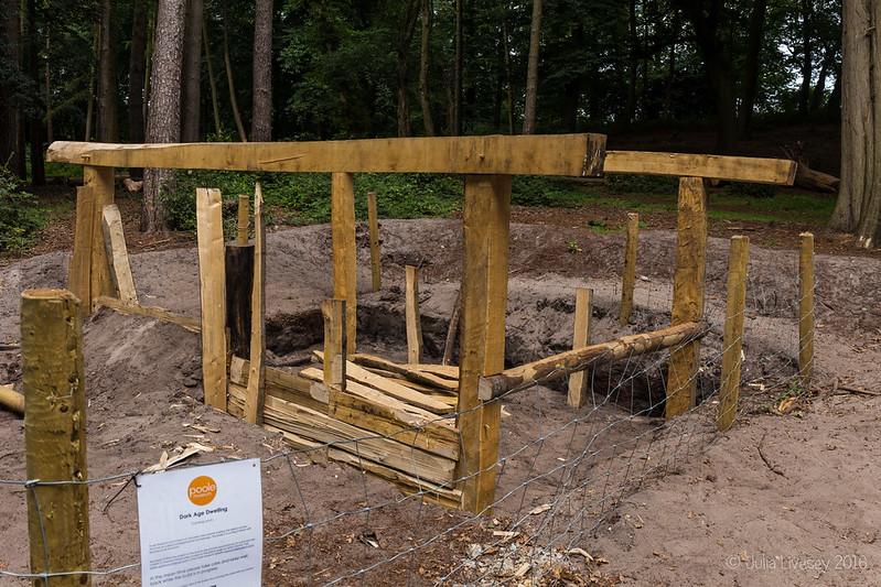 Dark Age Dwelling being build in the Woodland Walk