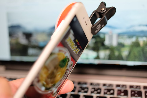 Tenkaippin Kotteri smartphone ramen noodle figured wide conversion lens 07