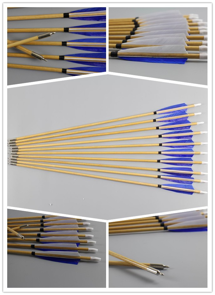 wooden practice arrows