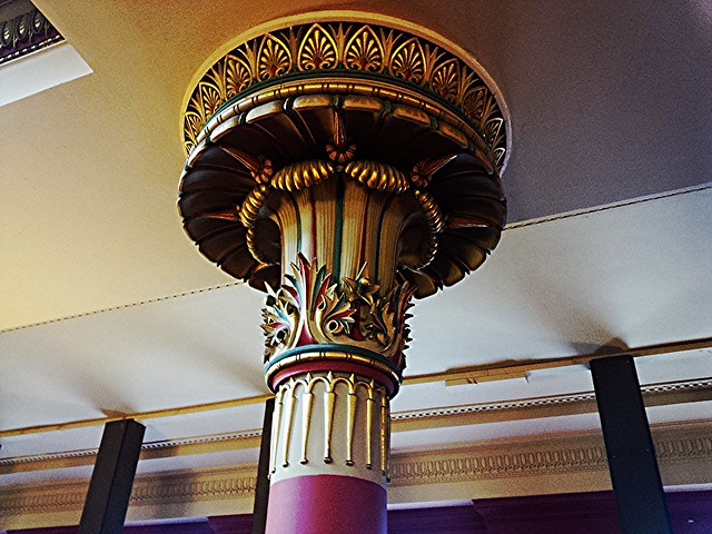 Decorated Capital at St Vincent Street Church, Glasgow.