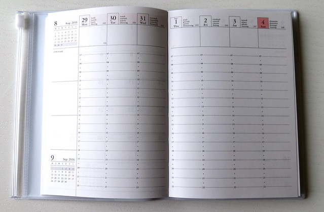 Make time planner weekoverzicht