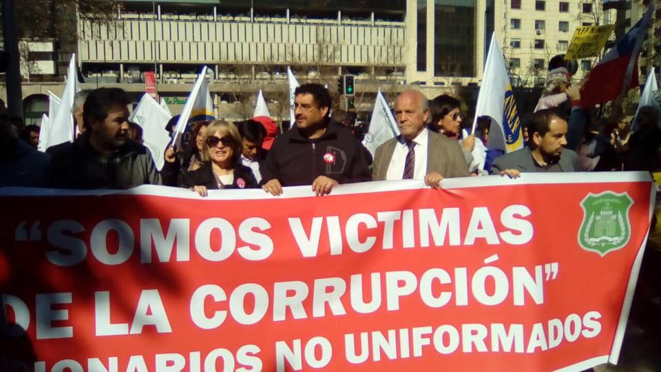 AFUDEP en marcha por defensa de la dignidad de los trabajadores de Gendarmería - 27 Julio 2016