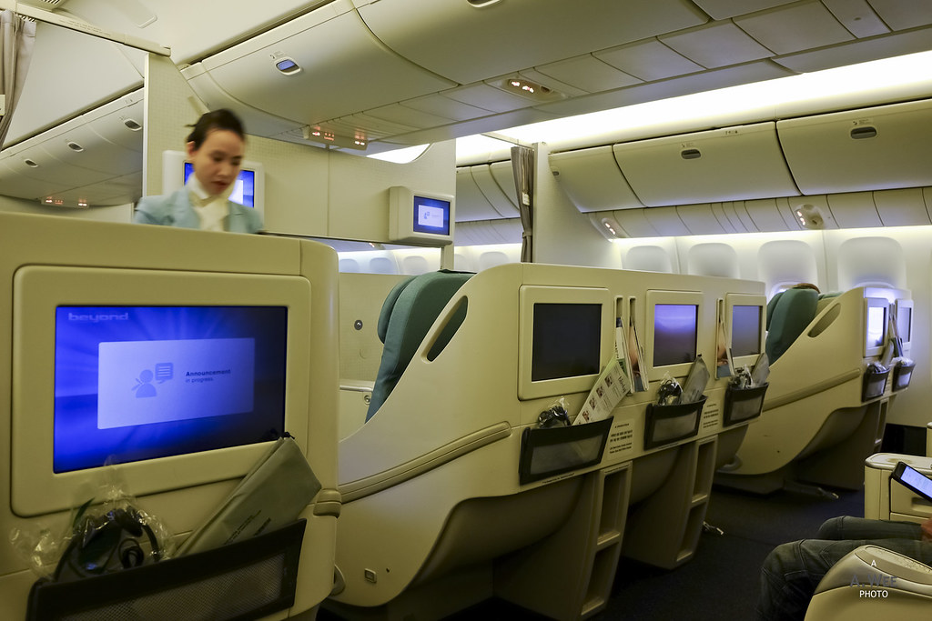 Forward Business class cabin