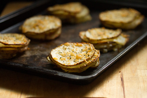 Crispy Rosemary-Parmesan Potato Stacks