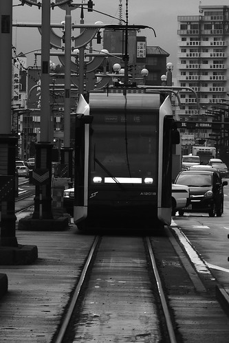 Tramcars at Sapporo in early morning on JUL 20, 2016 (18)