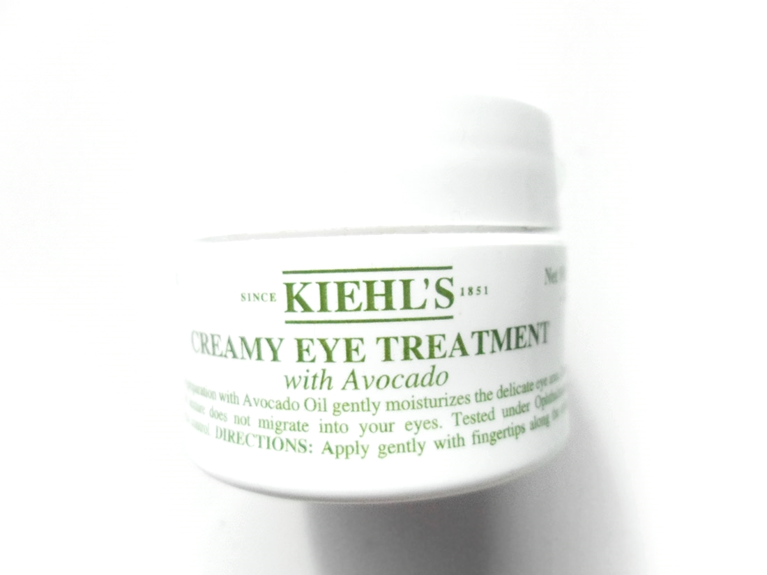 Kiehl's Creamy Eye Treatment with Avocado review and swatch