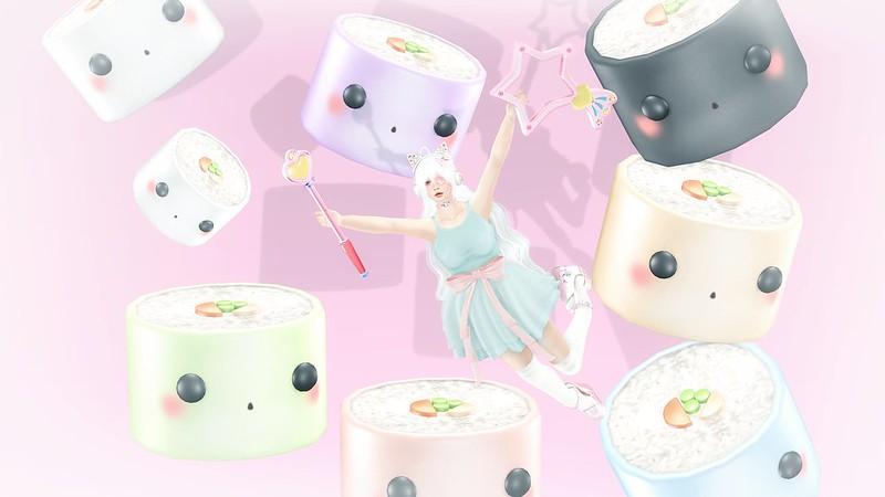 sushi girl ・*・:≡(  ε:)✧