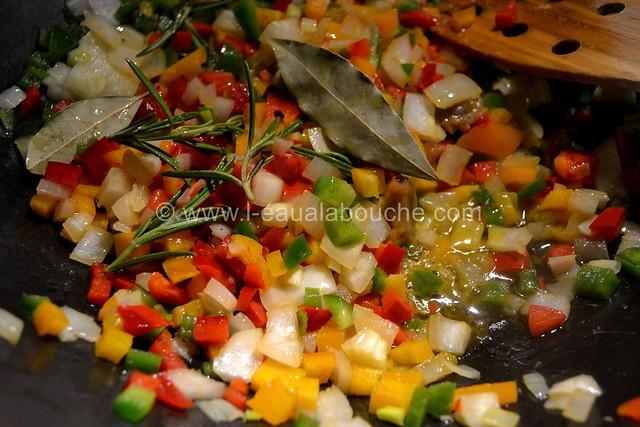 Spaghetti aux Crevettes & aux Trois Poivrons  © Ana Luthi Tous droits réservés 1