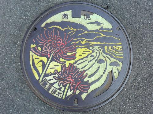 Kikuka Kumamoto, manhole cover 3 (熊本県菊鹿町のマンホール3)