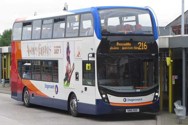 Enviro400 MMC SN16 OUC, Stagecoach Manchester, Ashton-under-Lyne Bus Station