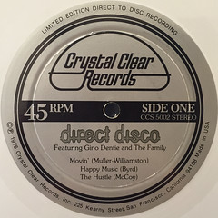 GINO DENTIE AND THE FAMILY:DIRECT DISCO(LABEL SIDE-A)