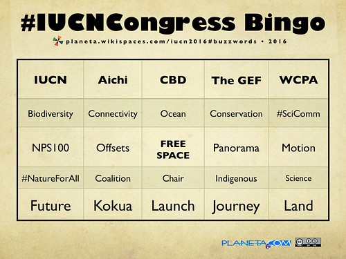 #IUCNCongress Buzzword Bingo