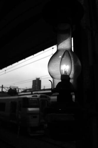 Platform, Otaru Station on JUL 23, 2016