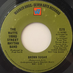 THE WATTS 103RD STREET RHYTHM BAND:BROWN SUGAR(LABEL SIDE-A)