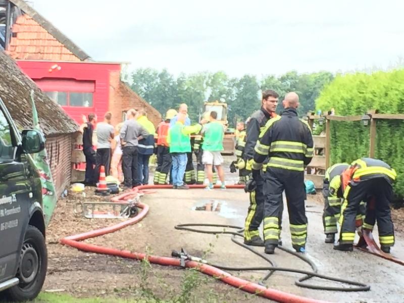 Brand bij Buurman en Buurman Koi in Froombosch