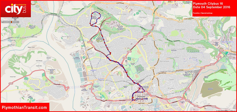 2016 09 04 Plymouth Citybus Route-016 Map.jpg