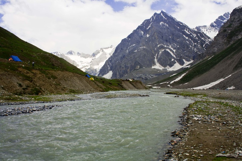 Panchtarni during Amarnath Yatra 2016, Jammu and Kashmir, India