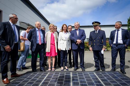 Route solaire : inauguration de l'usine SNA de Tourouvre