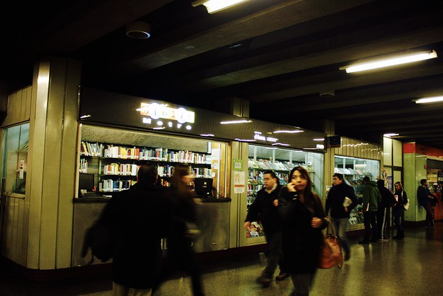 Love the little library at Plaza Armas Metro station, Santiago