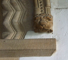 lion on the chancel arch