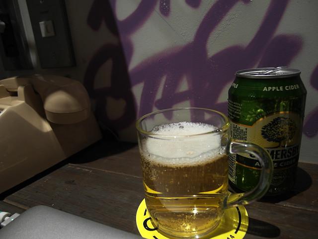喝杯夏日蜜蘋果酒!(警語:飲酒過量,有礙健康)@雀客旅館CHECK INN