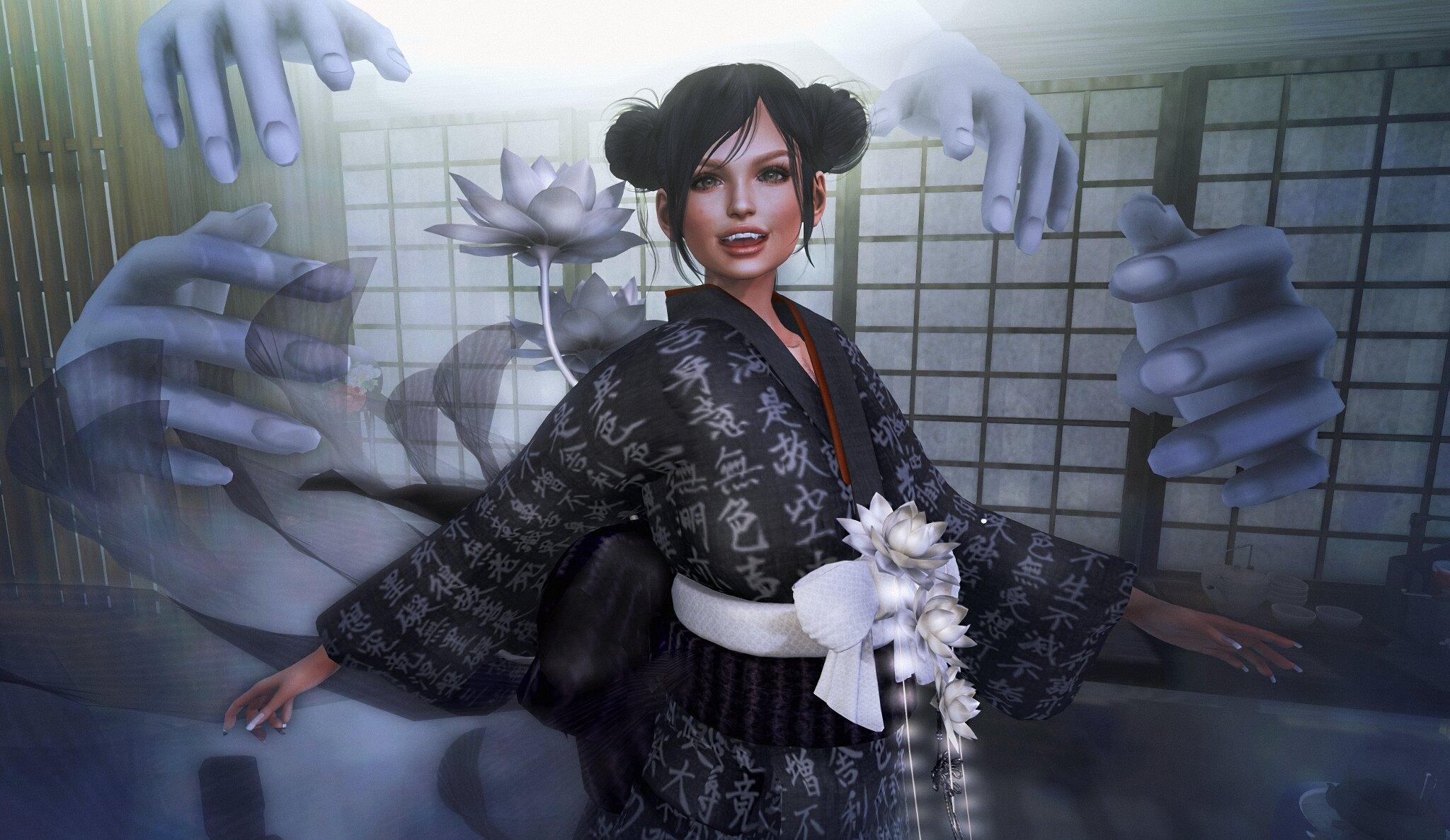 NAMINOKE Houichi Kimono Dress for ORIGAMI