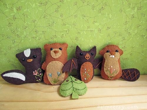 woodland creatures set 4