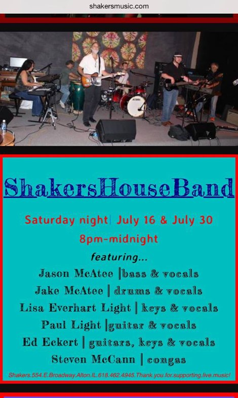 Shakers 7-16, 7-30-16