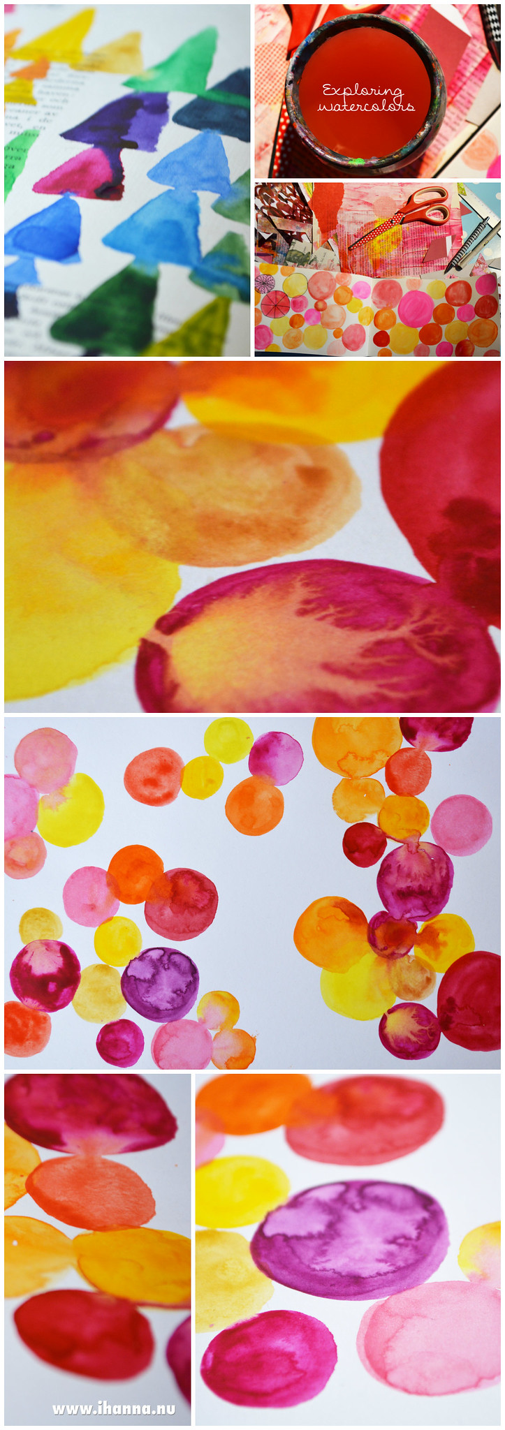 My Watercolor Explorations painted by artist Hanna Andersson a.k.a. @ihanna - Sweden #watercolours