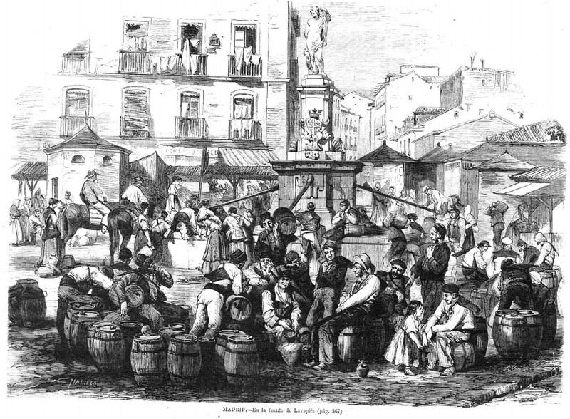 Plaza de Lavapiés. De Francisco Pradilla - La Ilustración Española y Americana Dominio público
