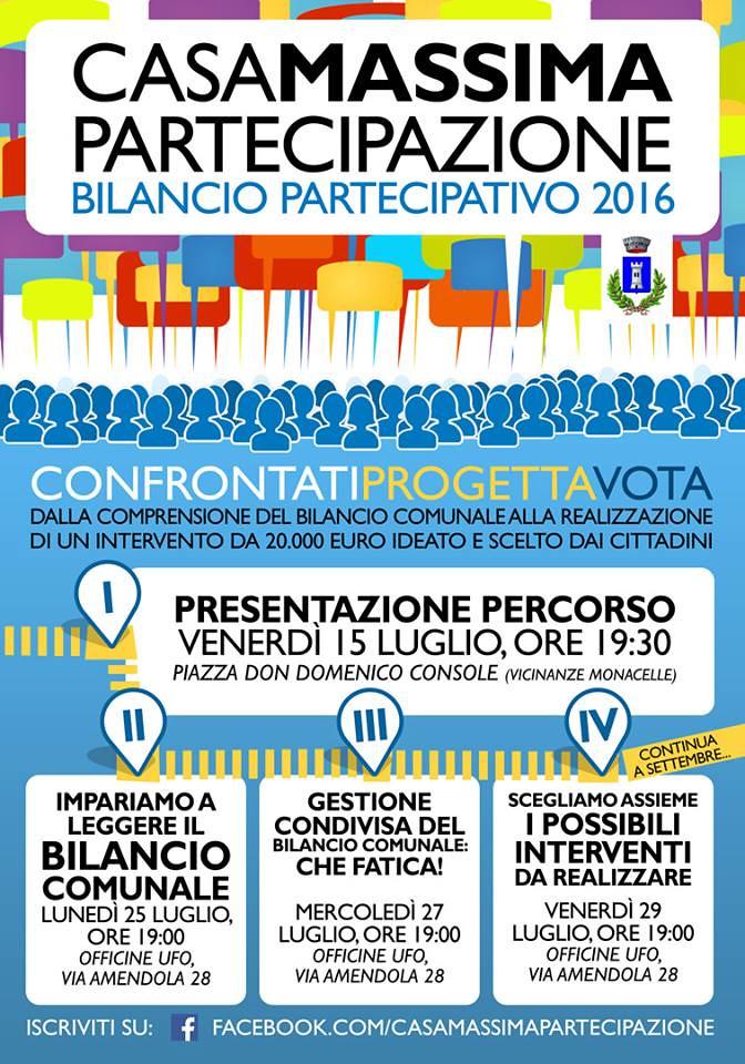 Bilancio partecipativo 2016 - locandina