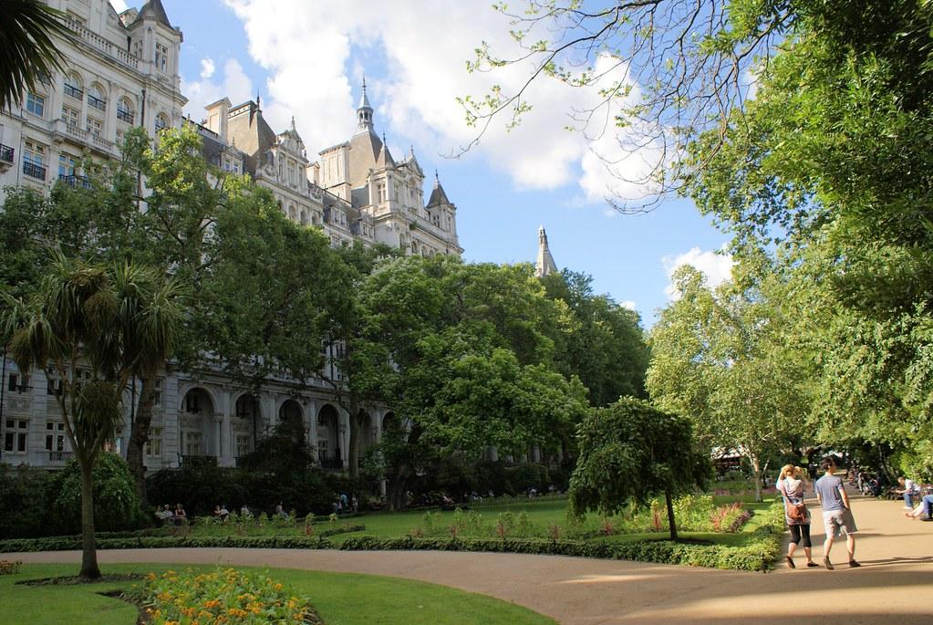 Whitehall Gardens dans le centre de Londres près de la Tamise.