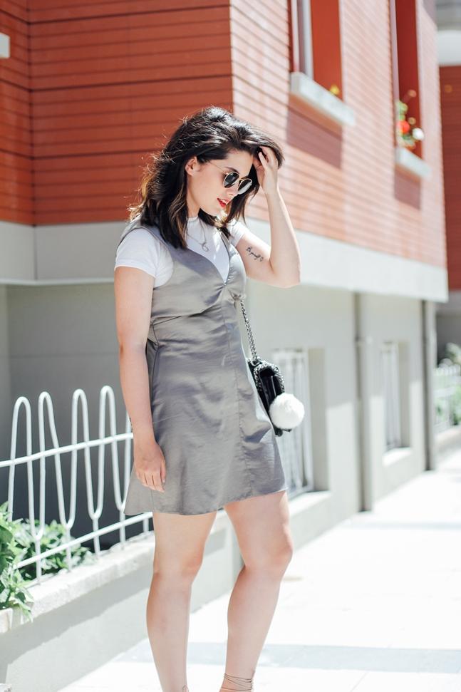 vestido lencero con camiseta debajo sandalias mango chloe vestido seda asos rebatly