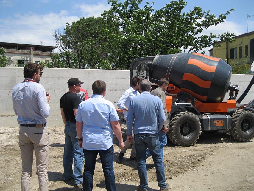 презентация самоходного бетонозавода Davino R30