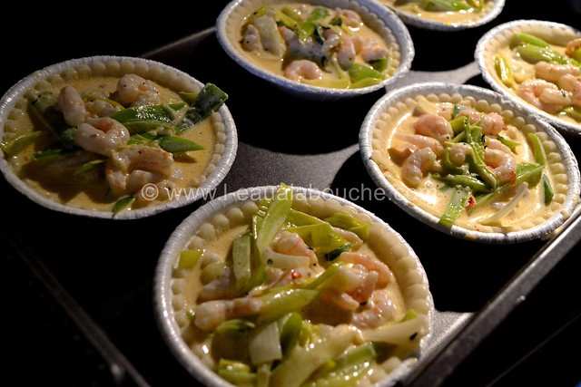 Tartelettes Poireaux-Crevettes © Ana Luthi Tous droits réservés 07