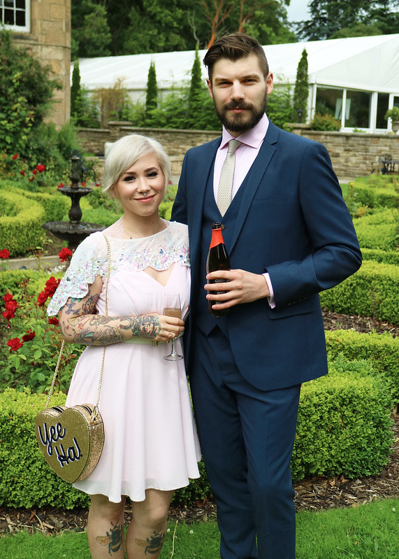 His and hers wedding outfit