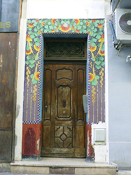 porte et mosaïque