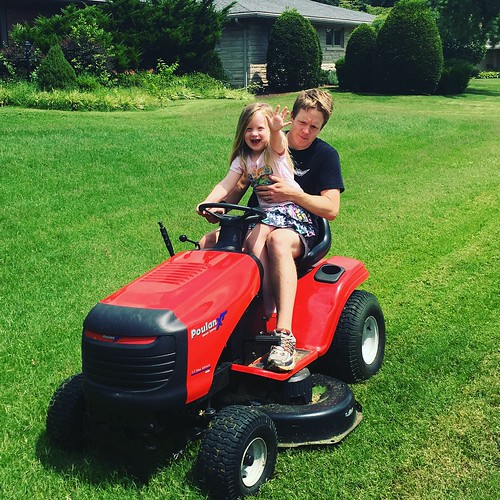 Mowing w/Dad!