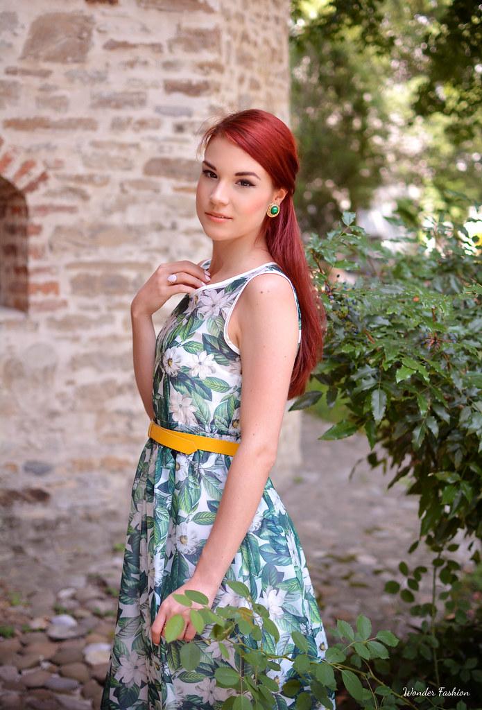 zaful rose dress4