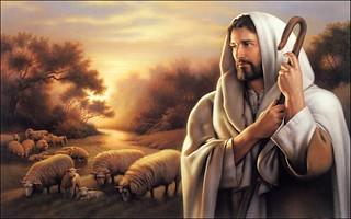 Estampita del Buen Pastor de Mayra