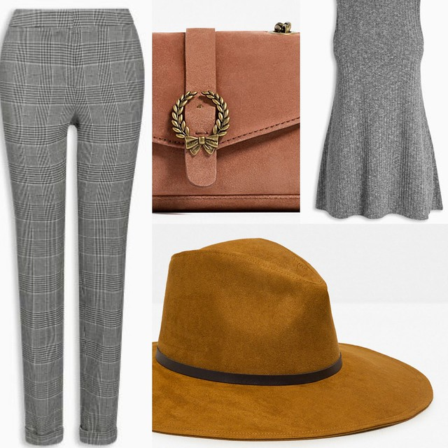AW2016 Outfit Mixups grey trousers and ribbed swing top